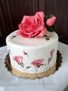 Hand+painted+roses+-+Cake+by+Mi6eto
