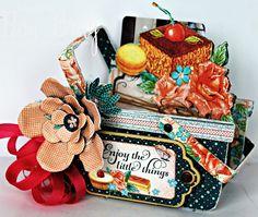 Scrapbook Flair: Pam Bray Designs: Enjoy the Little Things Gift Basket