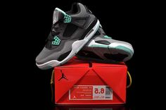 7a5d66111954 Nike Air Jordan 4 Mens DMP Grey Black Jade Shoes