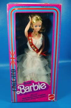 Vintage-Royal-England-Barbie-In-Box-Mattel-NIB-Original-DOTW-Dolls-of-the-World