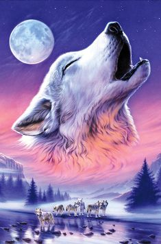 Wolf Photograph - Baying To The Moon by MGL Meiklejohn Graphics Licensing Beautiful Wolves, Animals Beautiful, Cute Animals, Wolf Wallpaper, Animal Wallpaper, Wolves And Women, Wolf Spirit Animal, Wolf Artwork, Wolf Painting