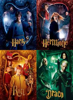 Harry - Hermione - Ron - Draco