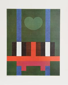 Herbert Bayer, Structure and Moon on Green, 1965