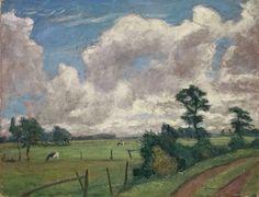 Otto Modersohn - SOMMERLANDSCHAFT MIT GROSSEN WOLKEN; Creation Date: 1931