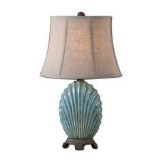 Uttermost 29321 Seashell Blue Buffet Lamp - Lighting Universe