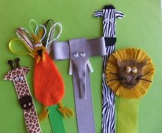 Ribbon & felt bookmarks