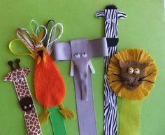 Ribbon & felt bookmarks