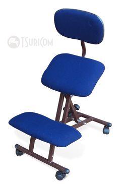 Эргономический стул (kneeling chair) с нерегулируемым упором для коленей СтК1 со спинкой ссылка