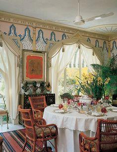 Renzo Mongiardino design for Valentino Garavani's Roman house.