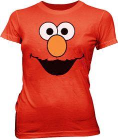 Sesame Street Elmo Face juniors T-shirt