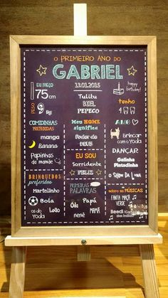 Chalkboard Primeiro Aniversário sabrinagrunwald@yahoo.com.br