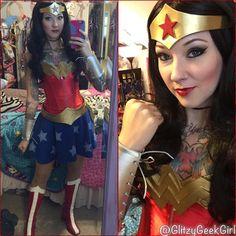 GLITZY GEEK GIRL: Tutorial: Wonder Woman Cosplay Costume