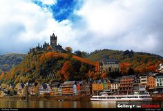Cochem, Germany - this is what it looked like when i was there during the fall.