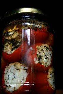 rzeźnia numer pięć: czereśniowe papryczki faszerowane kozim serem