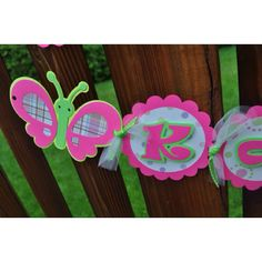 Butterfly 'Lilly pulitzer' style birthday banner!