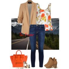Countryside by tais-escobar on Polyvore featuring polyvore, fashion, style, Glamorous, River Island, Hudson, Hollister Co., CÉLINE, Daniel Wellington and GUESS