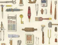 Sorted artefacts by Mattias Adolfsson, via Behance