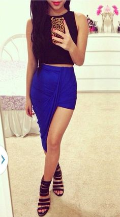 Asymmetrical Hi Low Skirt