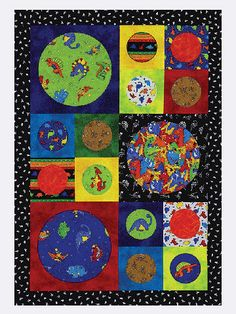 Quick Dinosaur Quilt-Stitch up this whimsical quilt in just a day. Choose fabrics that match your child's personality or interests. This quilt is all about dinosaurs