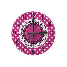 Cute n Girly Floral Whimsy Clock by hhtrendyhome