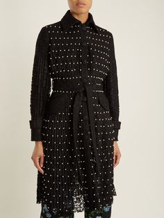 Sylvia faux-pearl embellished lace trench coat | Huishan Zhang | MATCHESFASHION.COM FR