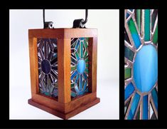 Radiance Stained Glass Lantern by smashglassworks on Etsy