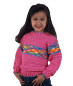 Free crochet sweater from red heart- but different colors