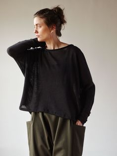 Understory Sweater No.1 - Sheer Black