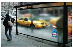 Image result for windex bus stop ad