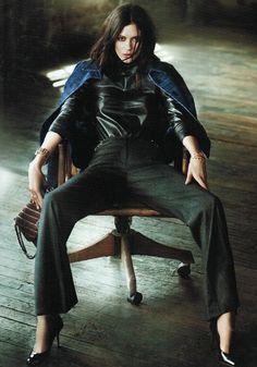 leather | chair | fashion editorial | fashion shoot | model | glamour | magazine | powerful | cool