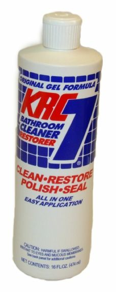 KRC-7  cleans and restores like new we really like this stuff for all kinds of weird things especially bathroom cleaning.