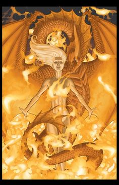 """Daenerys Targaryen by Mike S Miller. Game of Thrones #6. """"[M]other of dragons, bride of fire"""""""