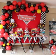 Festa Tema Carros Decoracao Disney Cars Party Birthday Cumpleanos 4th