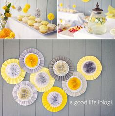 a good life blog ~ baby shower decor