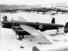 The Avro Type 694, better known as the Avro Lincoln, was a British four-engined heavy bomber, which first flew on 9 June 1944. Developed from the Avro Lancaster, the first Lincoln variants were known initially as the Lancaster IV and V, but were renamed Lincoln I and II. It was the last piston-engined bomber used by the Royal Air Force. The Lincoln became operational in August 1945.