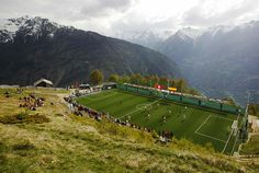 pitch in Gspon, Swiss Alps