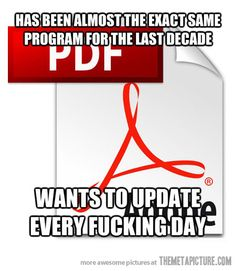 Adobe Reader... just stay the same!