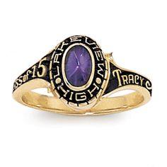 Girl Holds High School Class Ring