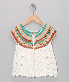 Take a look at this Rainbow Crochet Cardigan - Girls by Blow-Out on #zulily today!#Fall