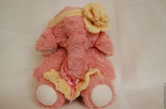 Купить Слоняша Дуняша - розовый, ручная работа, игрушка ручной работы, игрушка в подарок