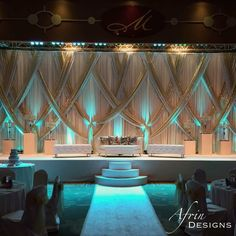 Ideas wedding reception stage backdrop draping Ideas wedding reception stage backdrop draping IdeasYou can find Draping and more on our website. Reception Stage Decor, Wedding Backdrop Design, Wedding Hall Decorations, Wedding Stage Design, Wedding Reception Backdrop, Marriage Decoration, Wedding Mandap, Backdrop Decorations, Backdrops