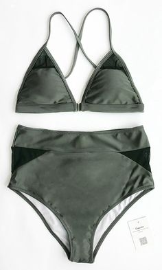 57d19c1eb7 Treat yourself something special~ Cupshe Surprise Me High-waisted Bikini  Set features chic mesh