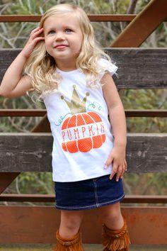 """""""Little Miss Pumpkin"""" Ruffle TEE"""