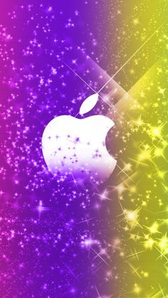 Apple Logo Wallpaper Iphone, Cellphone Wallpaper, Lock Screen Wallpaper, Mobile Wallpaper, Iphone Wallpapers, Apple Picture, Phone Logo, Wallpaper Pictures, Purple Gold
