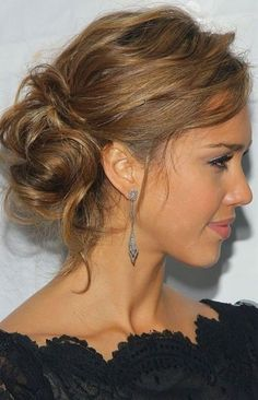 Celebrity Messy Updo for Wedding