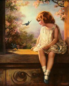 Vintage Bluebird Bessie Gutmann