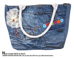 DENIM FASHION  new handmade jeansbag jeans bag by FANZYDESIGN