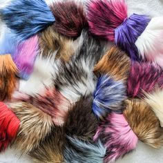 Faux Fur Grab Bag - Build Your Bag – Warehouse 2020 Make Your Own, Make It Yourself, How To Make, Black Orchid, Faux Fur Pom Pom, Pacific Blue, Grab Bags, Pom Poms, You Bag