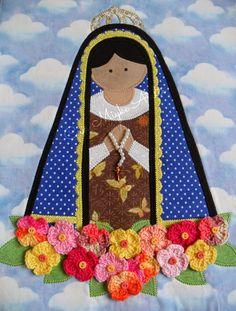 Cris Miyke Ateliê: Nossa Senhora Aparecida em Tecido - Patchapliquê