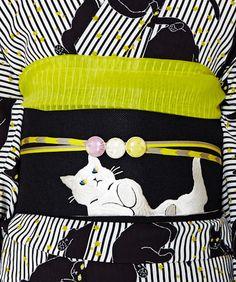 【楽天市場】2015ふりふオリジナル【ゆかた帯・半巾】ごろん猫:ふりふ